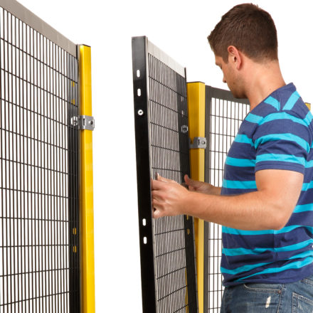 Drop-N-Lock® Machine Guarding Feature