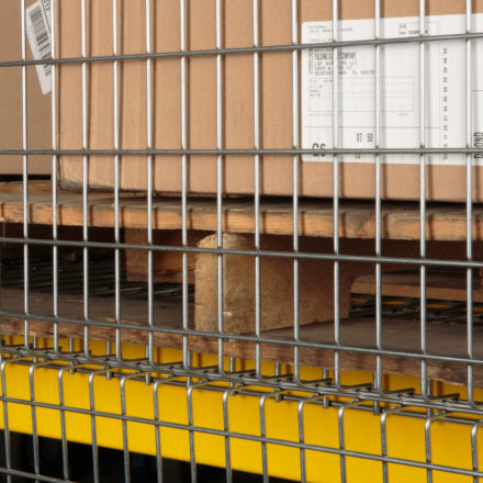 Folding Guard Pallet Rack Backing System
