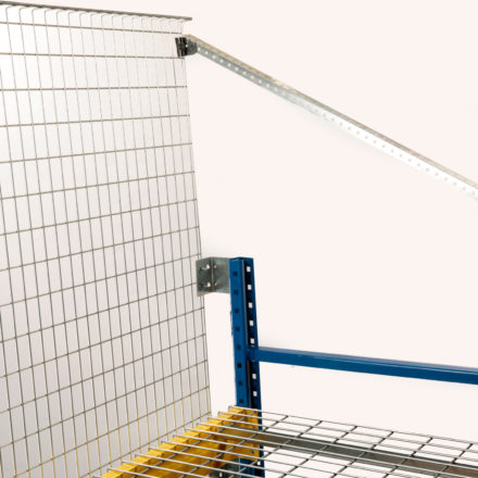 Pallet Rack Backing System by Folding Guard