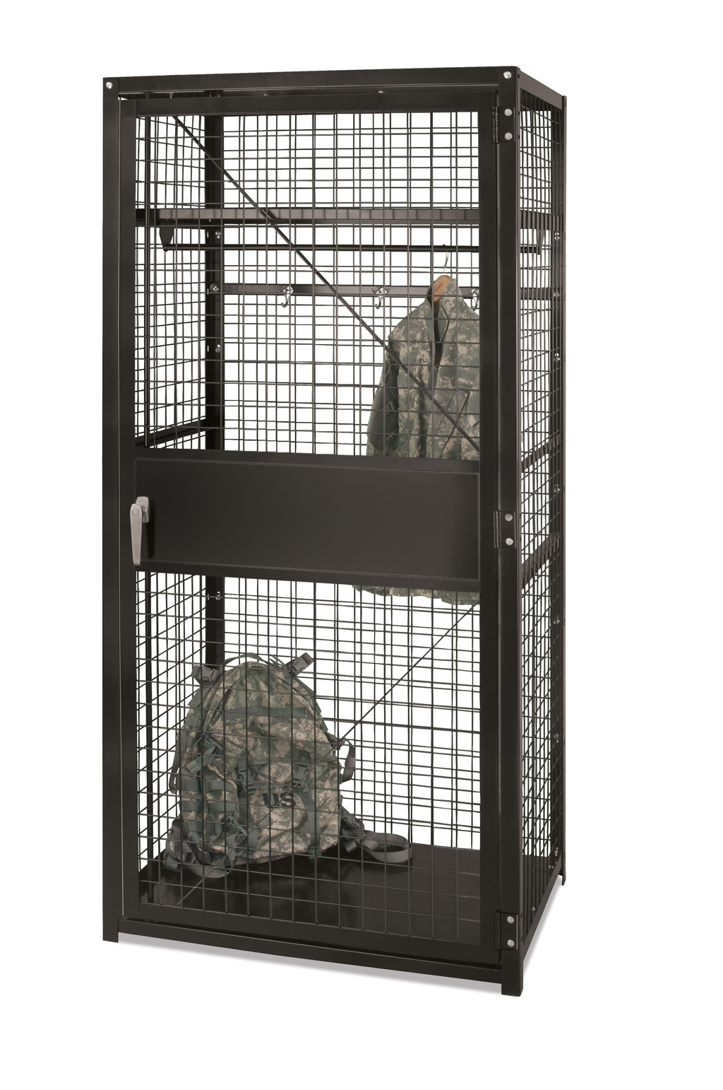 Stor-More® TA-50 Military Locker - Framed Welded Wire & Expanded Metal