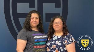 Folding Guard Employees & Sisters Maria and Yolanda