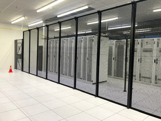 Image of Data center partition provided by Folding Guard