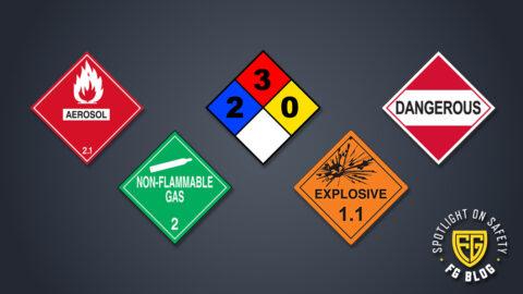 Hazardous Material Safety and Storage Symbols