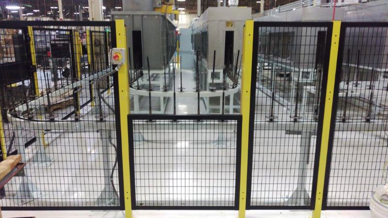 Saf-T-Fence® Machine Guarding enclosure on manufacturing floor